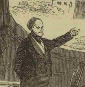 Controversial Manager of the Drury Lane Theater, Mr. Bunn