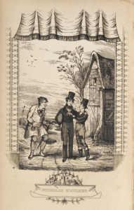 "Illustration from Edward Stirling's adaptation of Dickens' ""Nicholas Nickleby"""