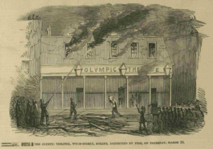 The Olympic Theater burns March 1849