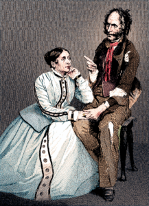 "Edward Stirling and Fanny Vining in ""Rag Picker of Paris"" 1847"