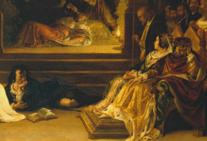 "Detail from ""Play Scene from Hamlet"" by Daniel Maclise"
