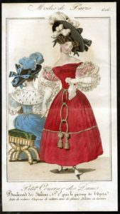 Fashionable Victorian Lady in Red