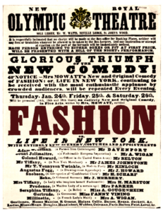 "Poster for ""Fashion"" 1850"