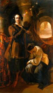 "Macready and Warner in ""Werner"" painting by Maclise"