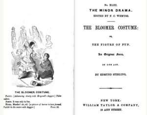 "Title Page of ""The Bloomer Costume"""