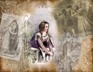 "Anna Cora Mowatt and images of productions of ""Romeo and Juliet"""