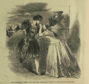 Charlotte and Susan Cushman as Romeo and Juliet, 1845