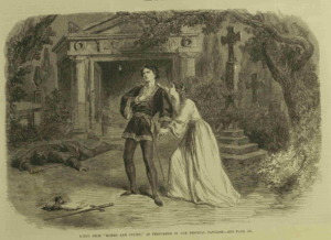 """Romeo and Juliet"" from 1864 has lovers meeting outside the tomb"