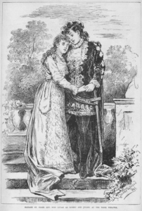 Madame St. Clair and Miss Lucan as Romeo and Juliet at the Park Theater, 1878