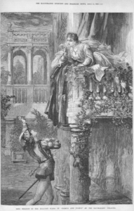 Miss Nelson as Juliet at the Haymarket in 1878