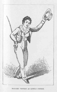 "Madame Vestris playing ""Little Pickle"" from ""The Spoil't Child,"" circa 1835"