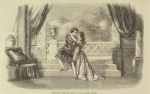 Charlotte and Susan Cushman as Romeo and Juliet
