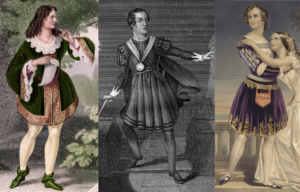 Comparison of Mowatt as Rosalind, Macready as Hamlet, and Cushman as Romeo