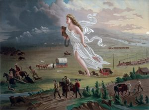 """American Progress"" by John Gast, 1872"
