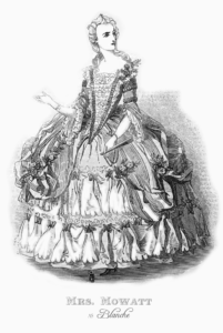 Mowatt as Blanche in court costume
