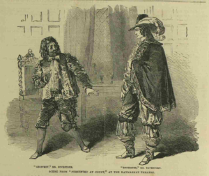 "Davenport and Buckstone in the melodrama ""Presented at Court"" in 1851"