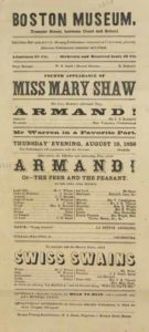 "Poster for 1858 production of ""Armand"""