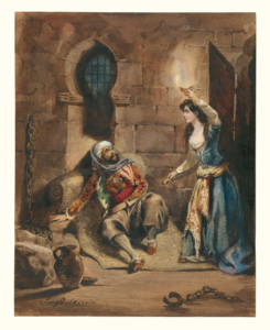 """Scene from """"The Corsair"""" by Delacroix"""