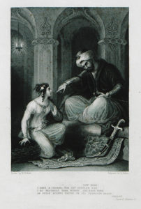 """Engraving of scene from """"The Corsair"""""""