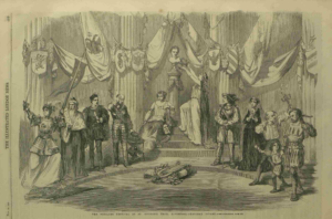 Tableau Vivant staged at the Schiller Festival in 1859 at the St. George Hall in Liverpool