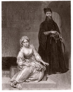 Engraving of Gulnare and Seyd