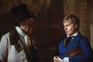 "Derek Jacobi and Ralph Richardson in ""The Fool"" 1990"
