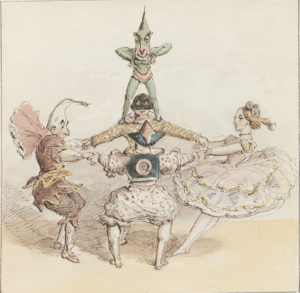 Pantaloon, the Clown, Harlequin, and Columbine by Alfred Crowquill