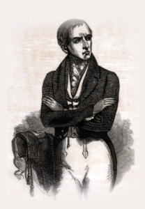 E.L. Davenport in a illustration from an 1862 playbill
