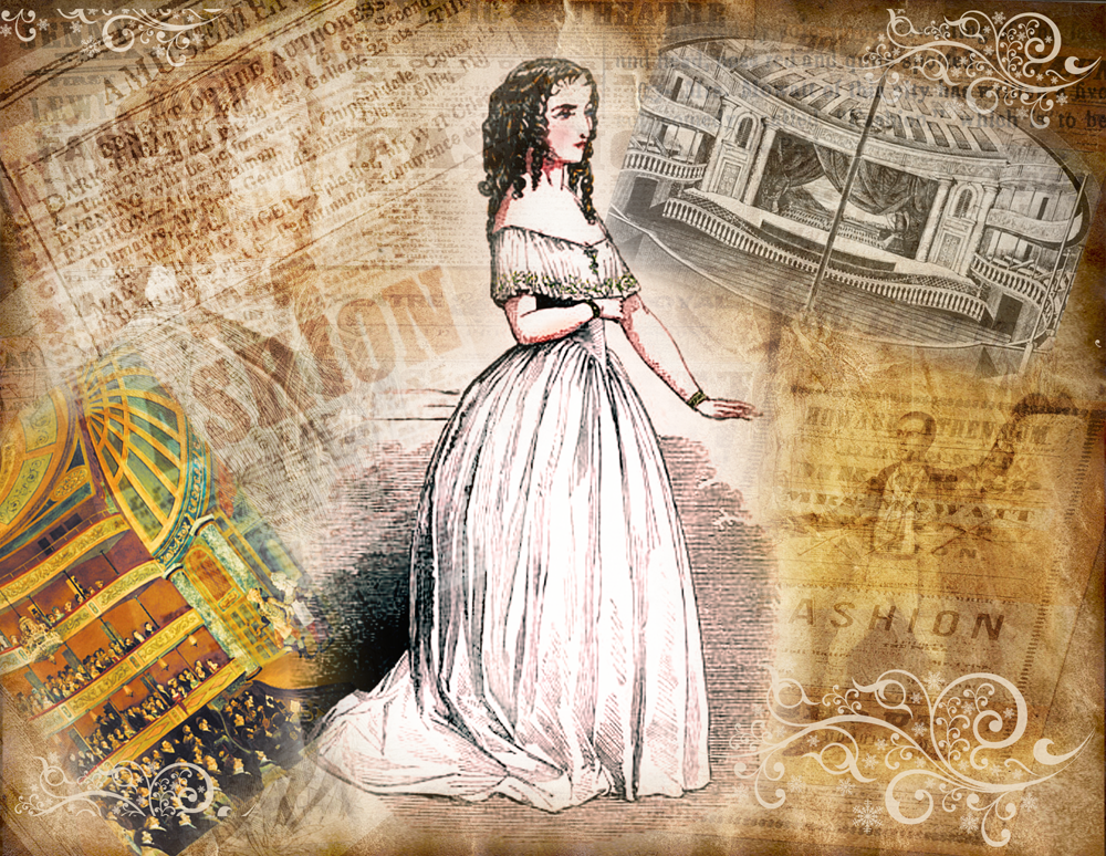 Images of Anna Cora Mowat and New York's Park Theater