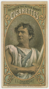 E.L. Davenport as Brutus