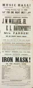 "Playbill for ""The Iron Mask"""