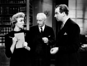 "Eve Arden, Harry Davenport, and Melvyn Douglas in ""That Uncertain Feeling,"" 1941"