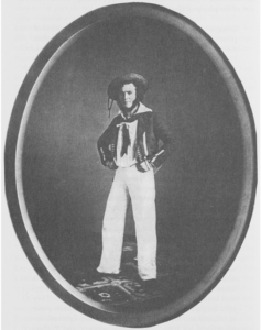 """E.L. Davenport as William in """"The Black-Eyed Susan"""" 1885"""