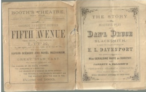 "Program for ""Dan'l Druce"" staring E.L. Davenport"