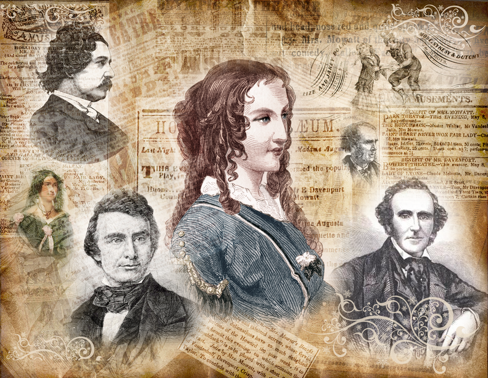 Anna Cora Mowatt and images of her early leading men