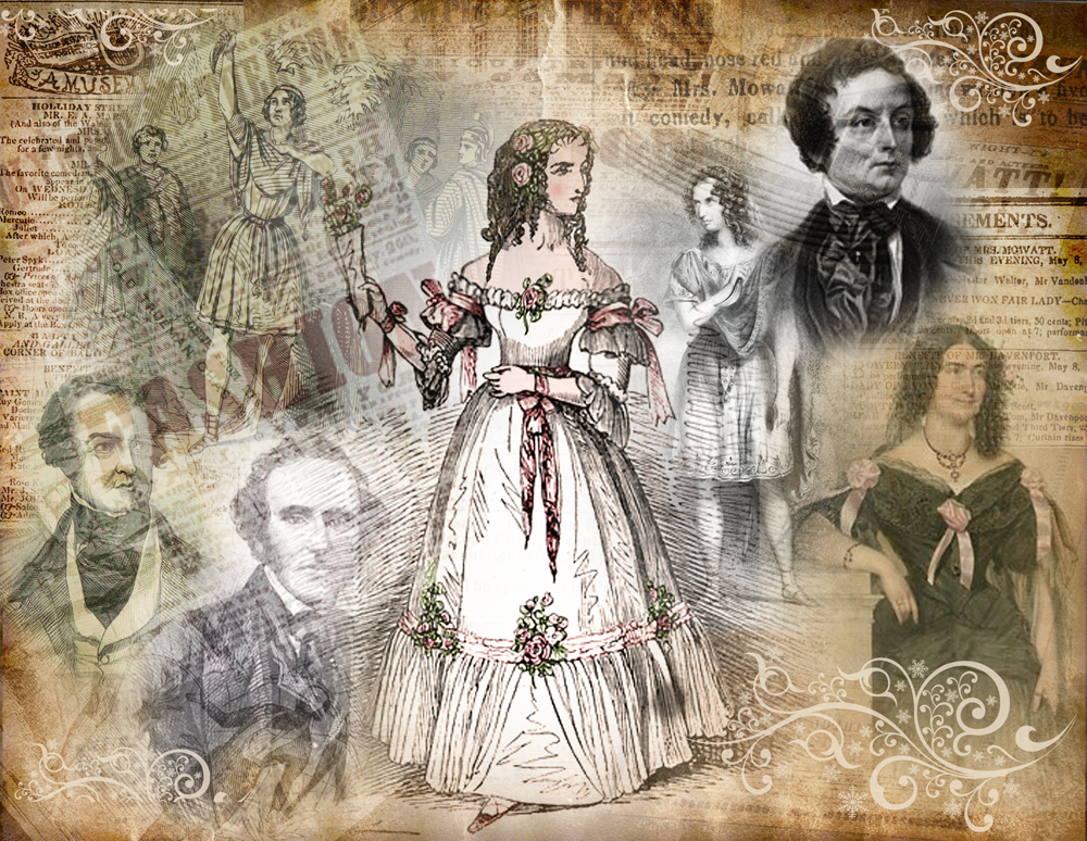 Images of Anna Cora Mowatt and Mrs. Charles Kean