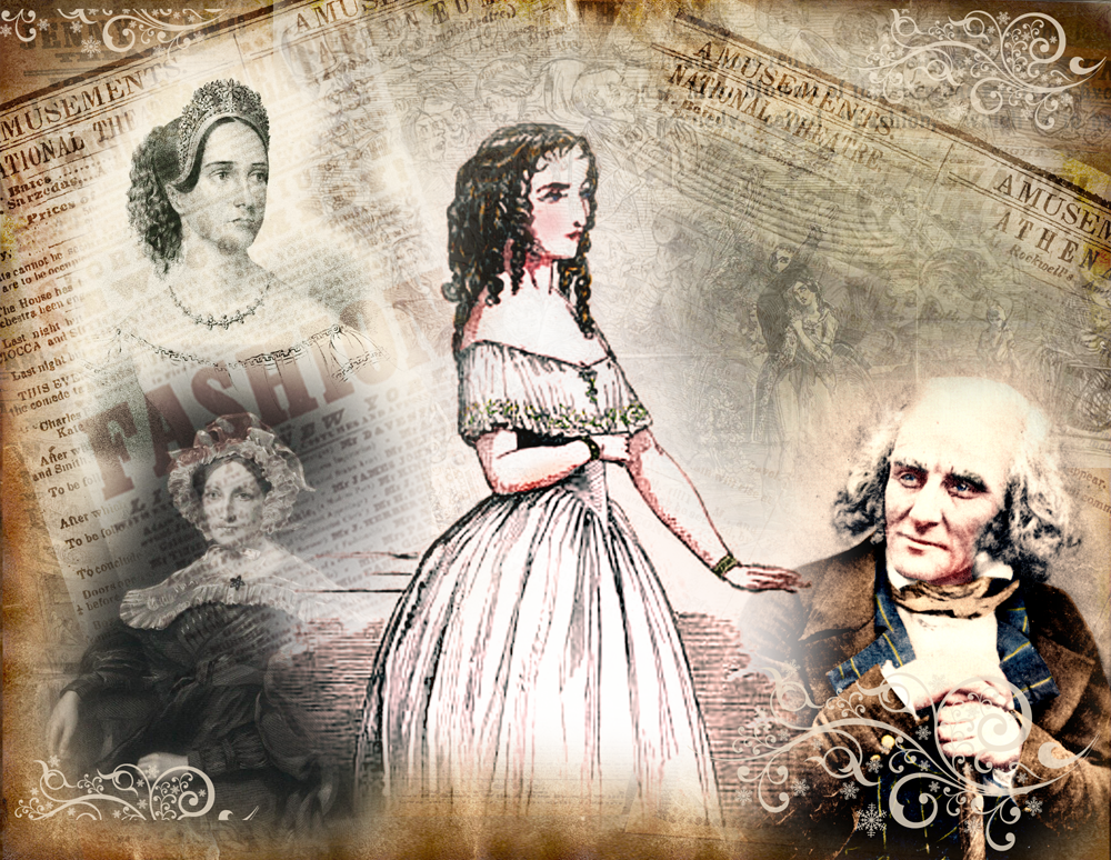Anna Cora Mowatt and images of Mrs. George Jones and Frances Trollope