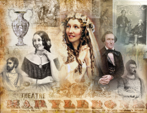 Images of Anna Cora Mowatt at the Marylebone Theatre, 1849