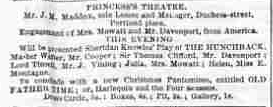 """Ad for """"The Hunchback"""" at the Princess Theatre"""
