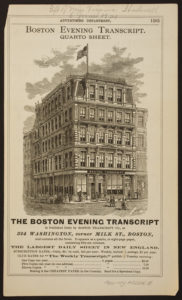 Offices of the Boston Evening Transcript